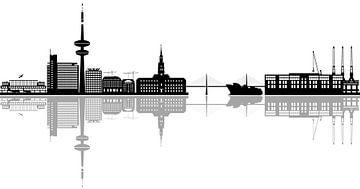 de skyline van hamburg van Compuinfoto .