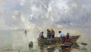Fischer auf dem Chiemsee, JOSEPH WOPFNER, um 1900