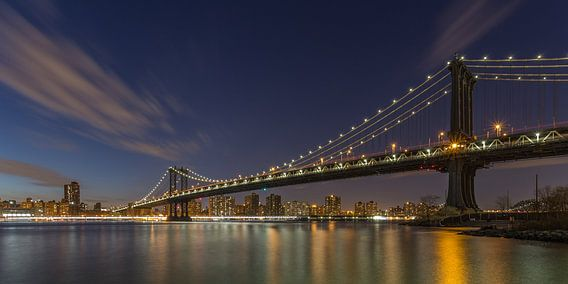 New York Skyline - Manhattan Bridge van Tux Photography