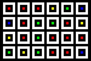 Nested | Center | 06x04 | N=02 | Random #05 | RGBY van Gerhard Haberern