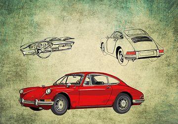 Rote Porsche 911 von Rens  Hendriks