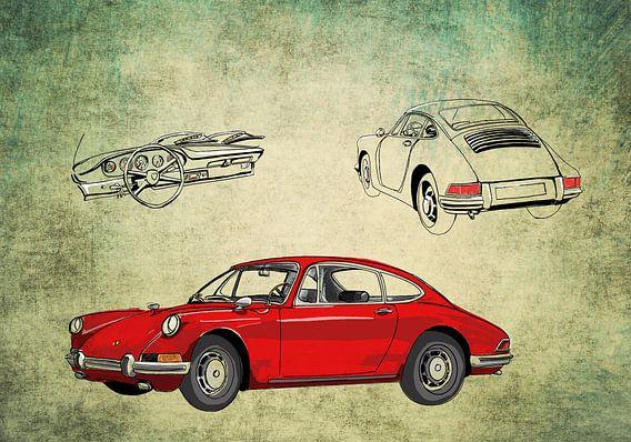 Rode Porsche van Rens  Hendriks