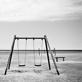 La balançoire sur la plage sur Heiko Westphalen