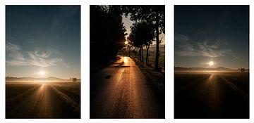 Sonnenaufgang in Borgholzhausen x3 von Norbert Sülzner