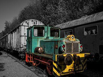 Verlaten trein van Helga fotosvanhelga