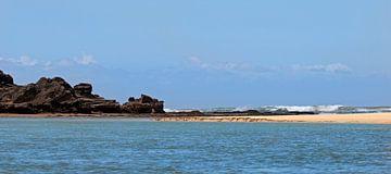 Bushman's rivier ontmoet Indische Oceaan van gea strucks