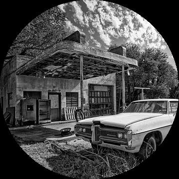 oude Pontiac op Route 66  U.S.A. van Tilly Meijer