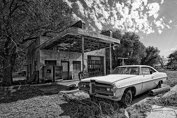 alter Pontiac an der Route 66 U.S.A.