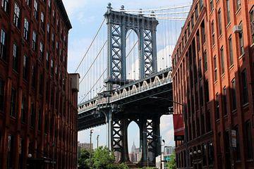 Manhattan Brug New York van Berg Photostore