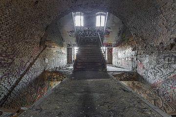Urbex Graffiti Treppe von Sasja van der Grinten