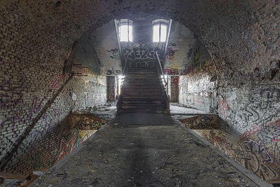 Urbex grafitti trap van Sasja van der Grinten