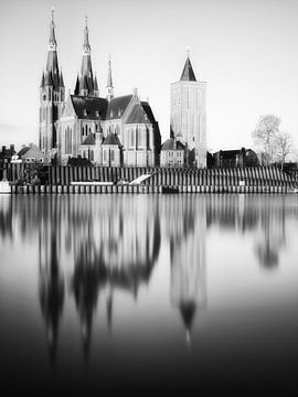 St-Martinuskerk Cuijk (zwartwit) van Lex Schulte