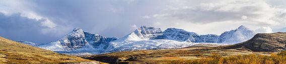 Besneeuwde bergen in Rondane