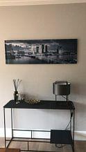 Kundenfoto: Skyline Rotterdam Erasmus-Brücke - Metallic-Grau von Vincent Fennis, auf alu-dibond