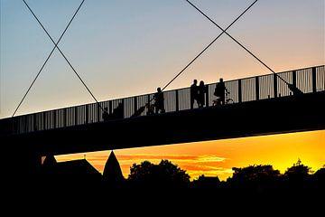 Hoge Brug Maastricht zonsondergang van Anita Martin, AnnaPileaFotografie