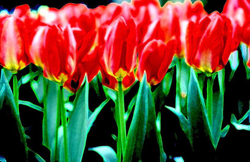My field of Tulips van Ernst van Voorst