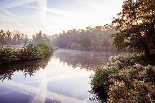 Twiske met water en mist van