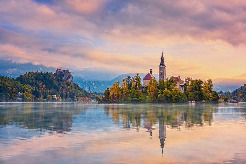 Sloveense ochtend van Pieter Struiksma