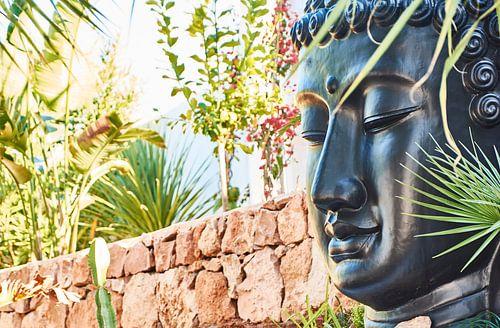 boeddha in de tuin van