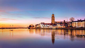 Deventer bij Zonsondergang, Nederland van Adelheid Smitt