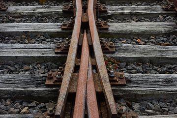 Oude spoorwegwissel van Geert van Kuyck