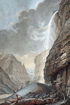 Wasserfall von Stabbauch, Jean François Janinet, 1772 - 1785 von Atelier Liesjes