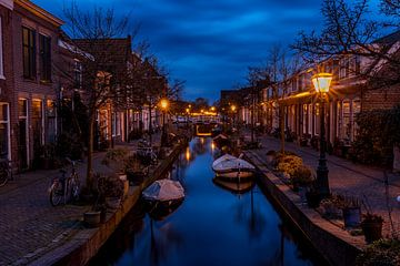 de Kijfgracht in Leiden von John Ouds