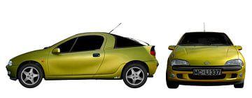 Opel Tigra en couleur originale sur aRi F. Huber