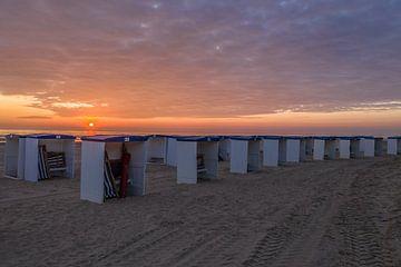 Strandhuisjes Katwijk aan Zee van Rene Ouwerkerk