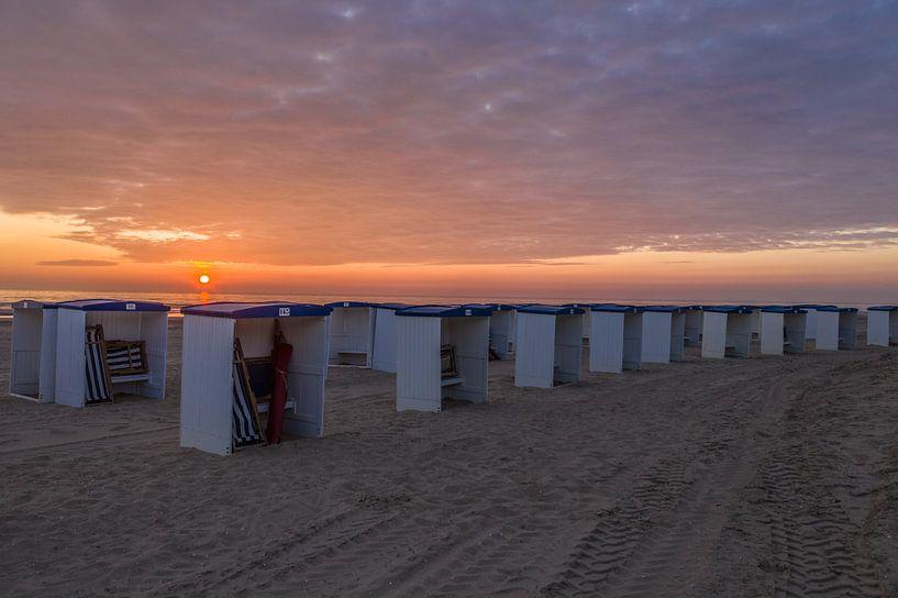 Strandhäuser Katwijk aan Zee von Rene Ouwerkerk