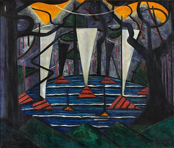 Schiffe und der Wald, Jacoba van Heemskerck, 1915 von Atelier Liesjes