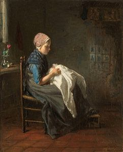 'Het naaistertje', Jozef Israëls