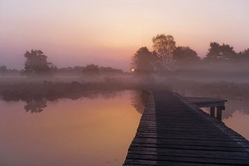 beautiful sunrise van Hilda booy