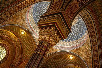 Plafond van de Spaanse synagoge in Praag van Anne Ponsen