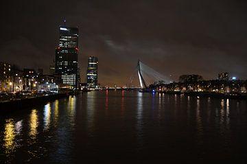 Rotterdam by night van Annemarie Goudswaard