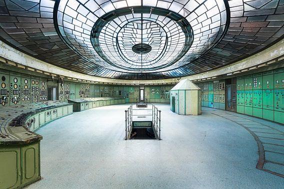 Controle Kamer in Kelenfold Energie Centrale. van Roman Robroek