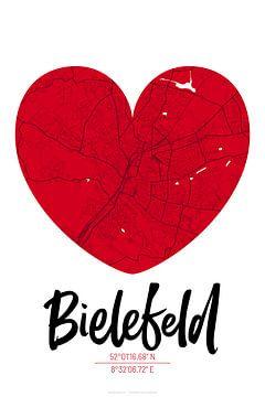 Bielefeld - Stadsplattegrondontwerp Stadsplattegrond (hart) van ViaMapia