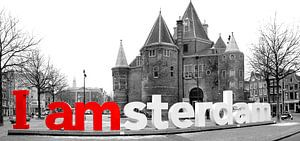 I Amsterdam De Waag Amsterdam in zwart wit