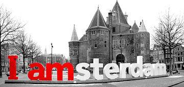 I Amsterdam De Waag Amsterdam in zwart wit van Heleen van de Ven