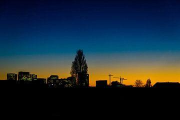 Skyline van de Amsterdamse Zuidas. von Don Fonzarelli