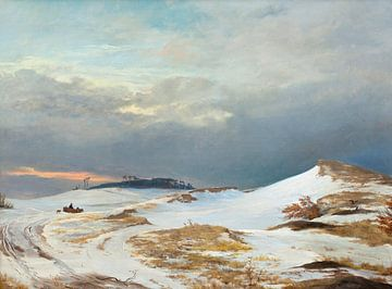Johan Thomas Lundbye~Winterlandschaft vom Typ Nordseeland