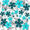 Blue digital flowers van Rosi Lorz thumbnail