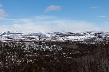 Berglandschap Finland van Irene Hoekstra