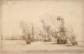 Zeeslag bij La Hogue, Willem van de Velde de Jonge
