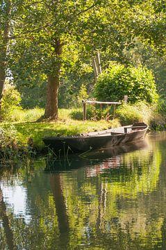 Boot in het Spreewald van Peter Baier
