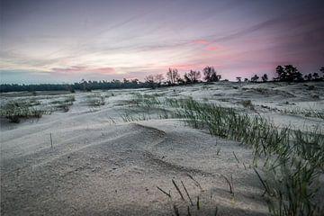 Zonsopkomst bij een zandverstuiving von Marcel Keurhorst