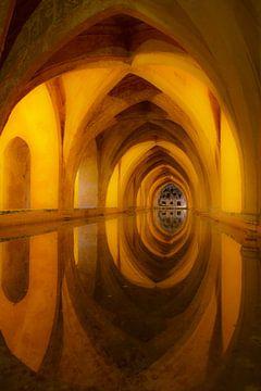 Cisterne, Alcazar Real, Sevilla sur Ed de Cock