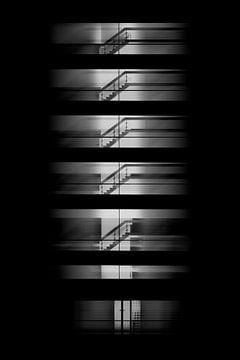 Treppenhaus eines Gebäudes in Farmsum von Ribbi The Artist