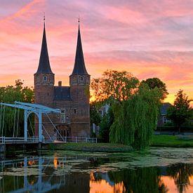 Schöner Himmel über das East Gate Delft von Anton de Zeeuw