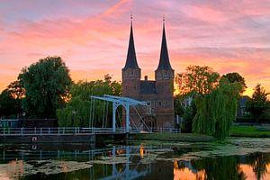 Mooie luchten boven de Oostpoort Delft van